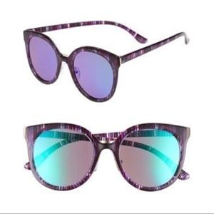 Nordstrom 60mm Mirror Lens Round Sunglasses